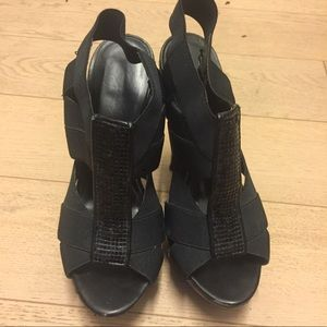Jessica Simpson Black Strappy Heels